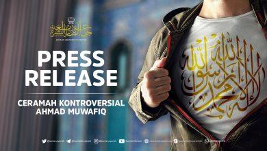 "Photo of PRESS RELEASE ""CERAMAH KONTROVERSIAL AHMAD MUWAFIQ"""