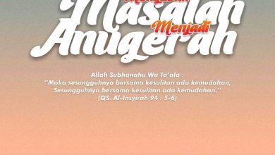 Photo of MENGUBAH MASALAH MENJADI ANUGERAH